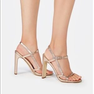 JustFab Rose Gold Strappy Summer Sandals